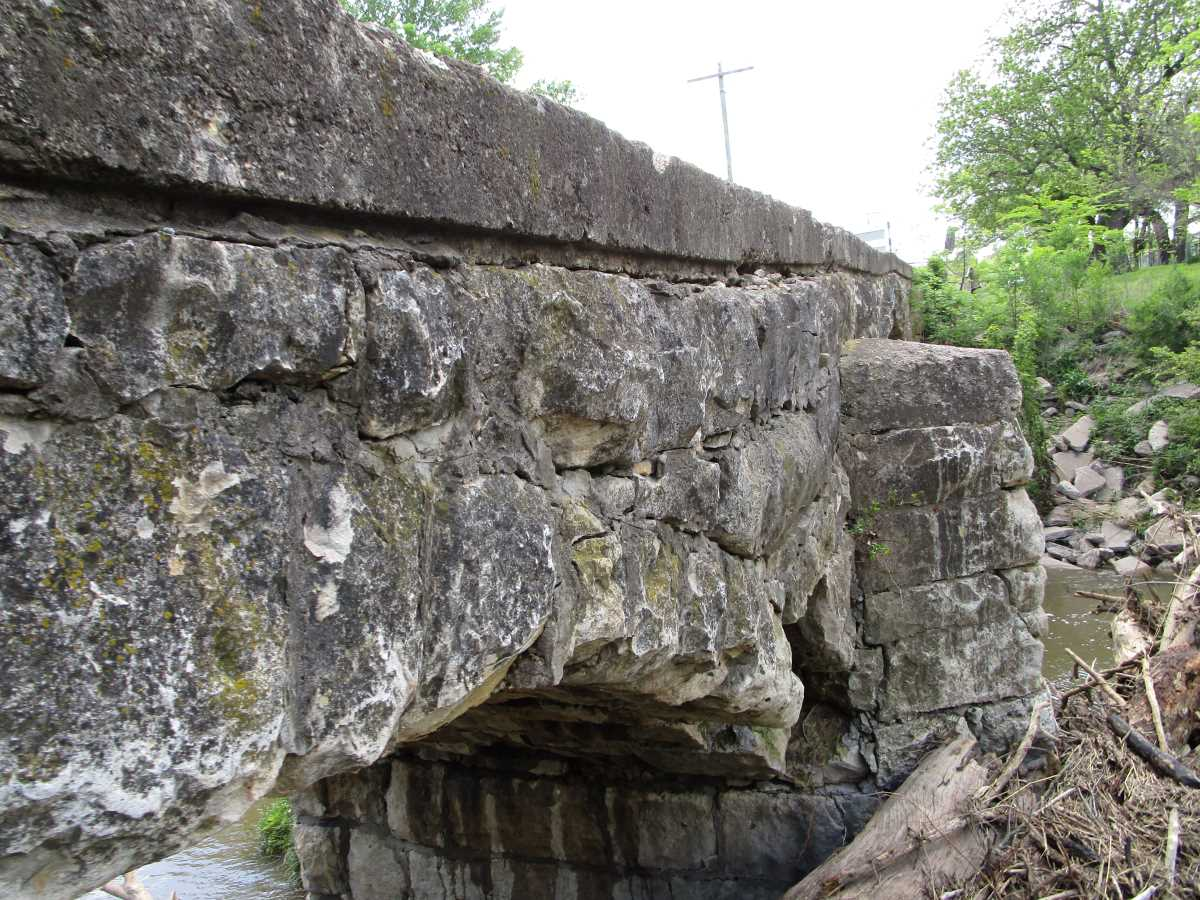 Damage to Pudden Bridge