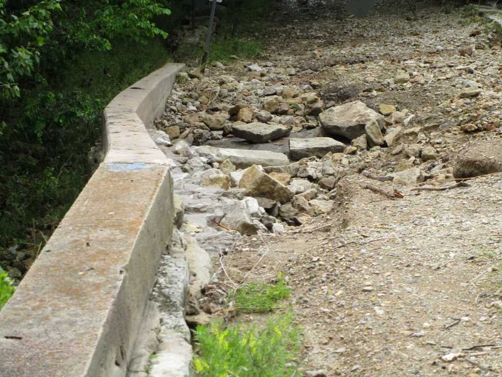 Washed Out Roadbed